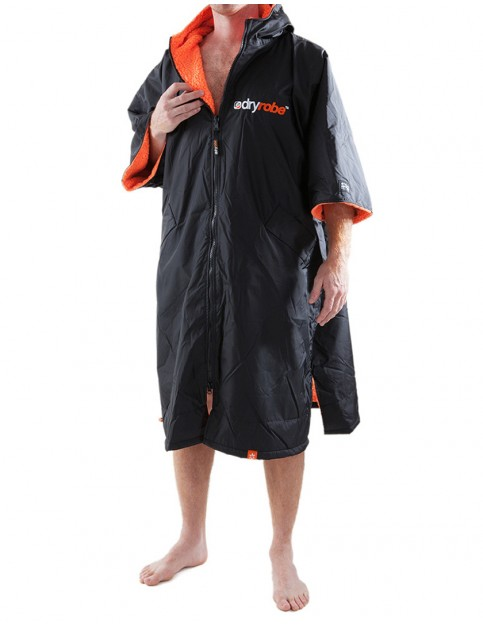 Dryrobe Advance Adult outdoor change robe - Black/Orange