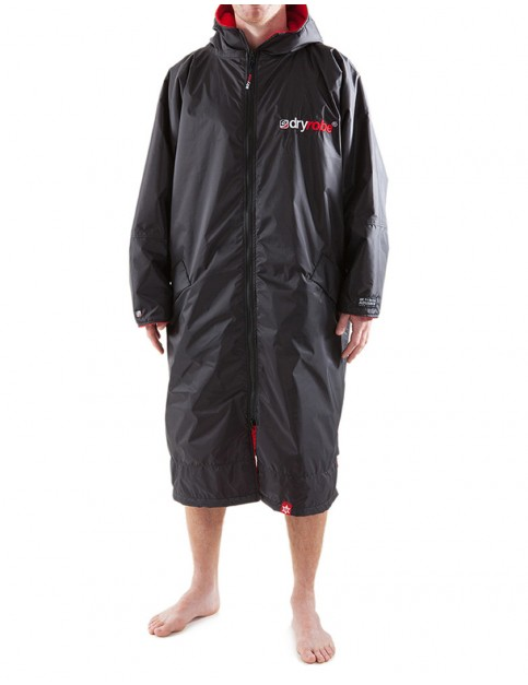 Dryrobe Advance Long Sleeve Adult outdoor change robe - Black/Red