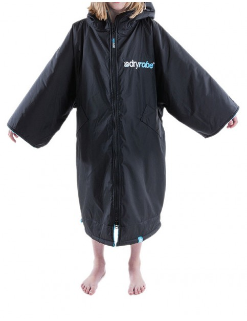 Dryrobe Advance Small (small adult/kid) outdoor change robe - Black/Blue