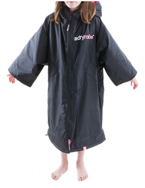 Dryrobe Advance Small (small adult/kid) outdoor change robe - Black/Pink