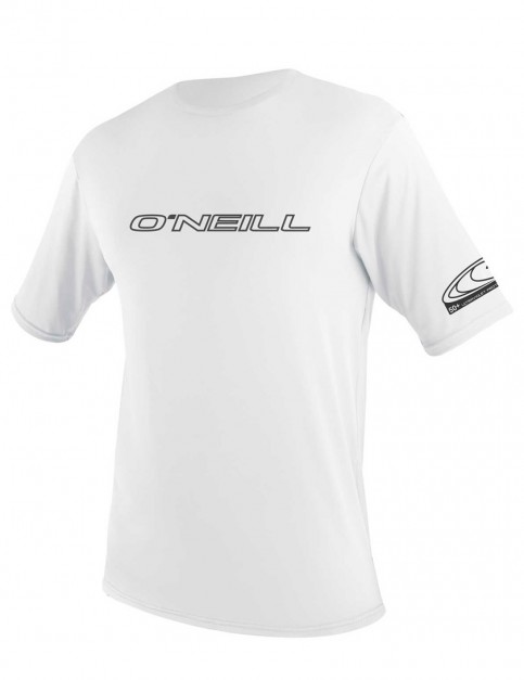 O'Neill Basic Skins Short Sleeve Rash Tee - White