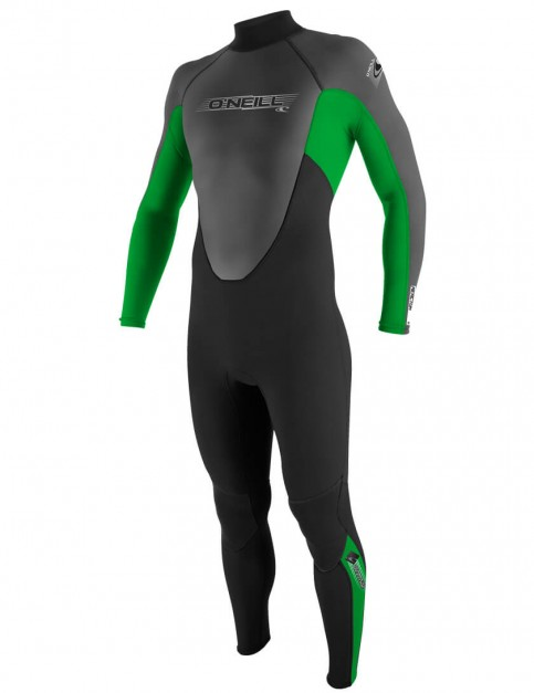 O'Neill Reactor 3/2mm wetsuit 2016 - Black/Clean Green/Graphite