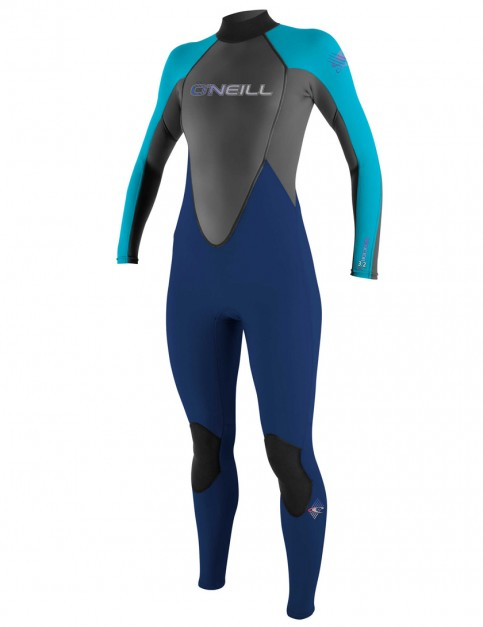 O'Neill Ladies Reactor 3/2mm Wetsuit 2018 - Navy/Turquoise/Graphite