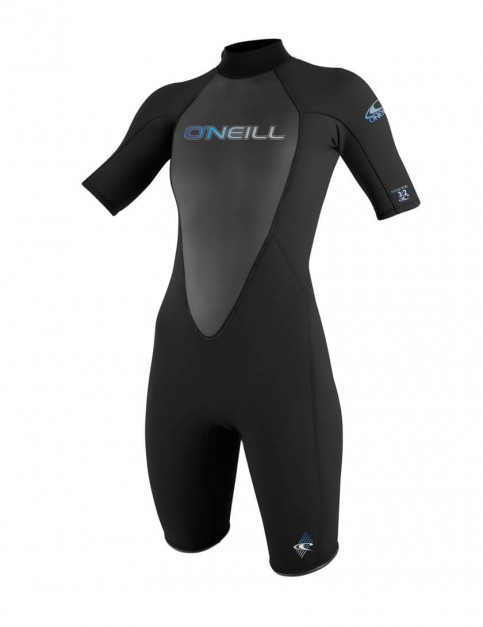 O'Neill Ladies Reactor Shorty 2mm wetsuit 2017 - Black/Black/Black