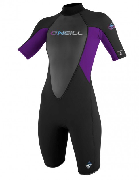 O'Neill Ladies Reactor Shorty 2mm Wetsuit 2017 - Black/Black/UV