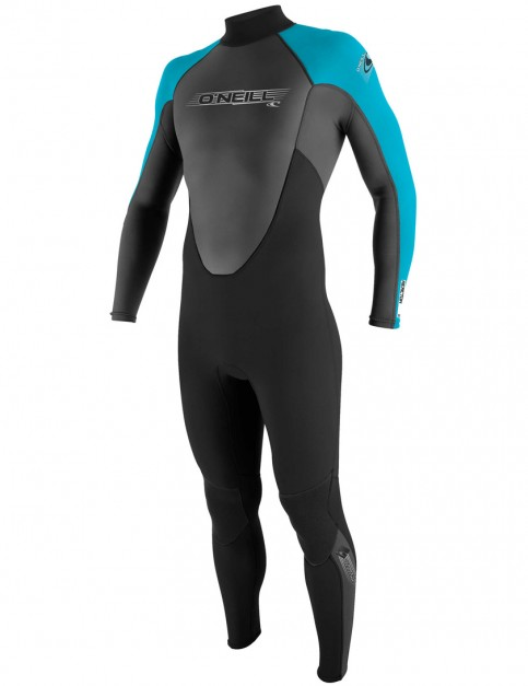 O'Neill Boys Reactor 3/2mm Wetsuit 2017 - Black/Graphite/Turquoise
