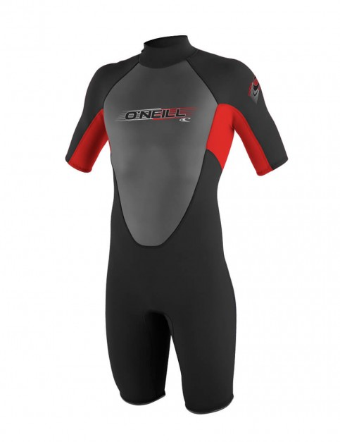 O'Neill Boys Reactor Shorty 2mm wetsuit 2016 - Black/Red/Black