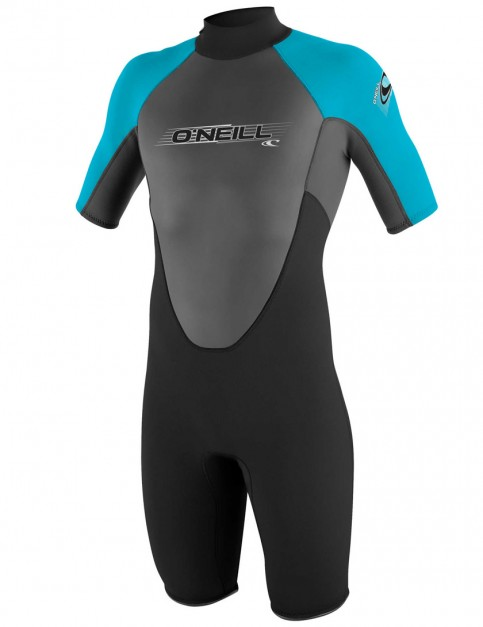O'Neill Girls Reactor Shorty 2mm wetsuit 2017 - Black/Graphite/Turquoise