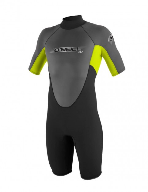 O'Neill Boys Reactor Shorty 2mm wetsuit 2016 - Black/Lime/Graphite
