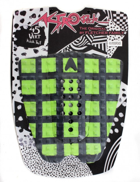 Astrodeck Crossroads Surfboard Tail Pad - Black/Green