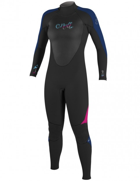 O'Neill Ladies Epic 3/2mm Wetsuit 2016 - Black/Navy/Berry