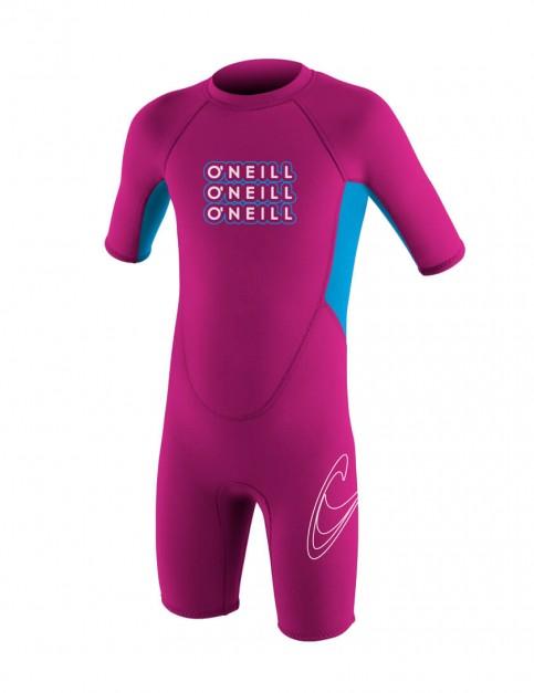 O'Neill Toddler Reactor Shorty 2mm Wetsuit 2016 - Punk Pink/Tahiti