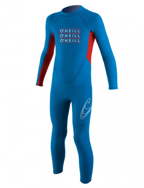 O'Neill Toddler Reactor 2mm Wetsuit 2016 - Bright Blue/Red