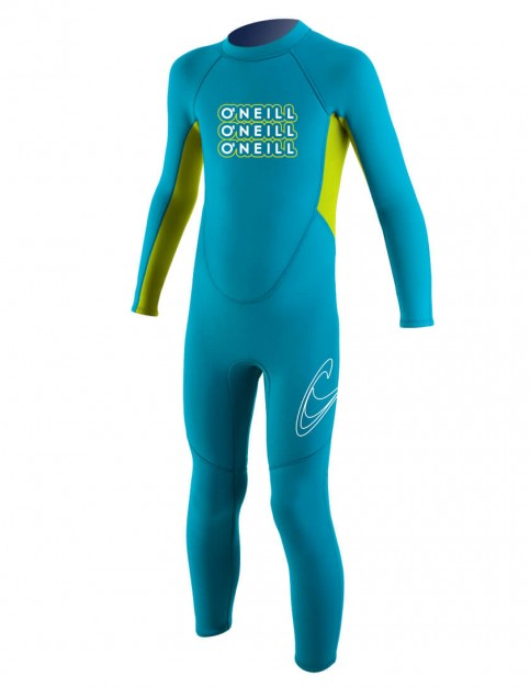 O'Neill Toddler Reactor 2mm Wetsuit 2016 - Turquoise/Lime