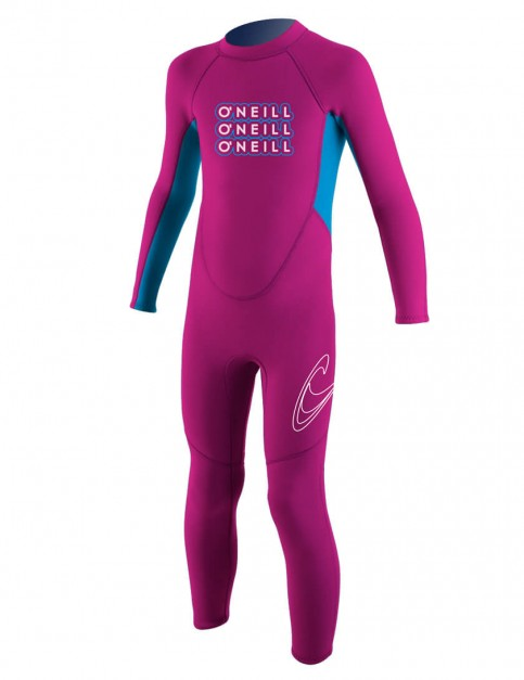 O'Neill Toddler Reactor 2mm Wetsuit 2016 - Punk Pink/Tahiti