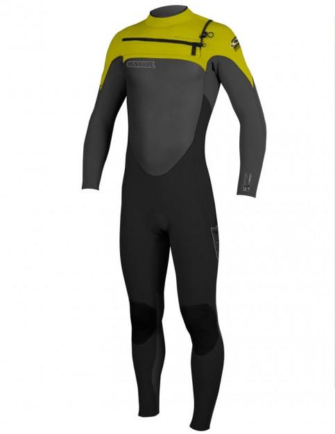 O'Neill SuperFreak Chest Zip 3/2mm Wetsuit 2016 - Black/Graphite/Yellow