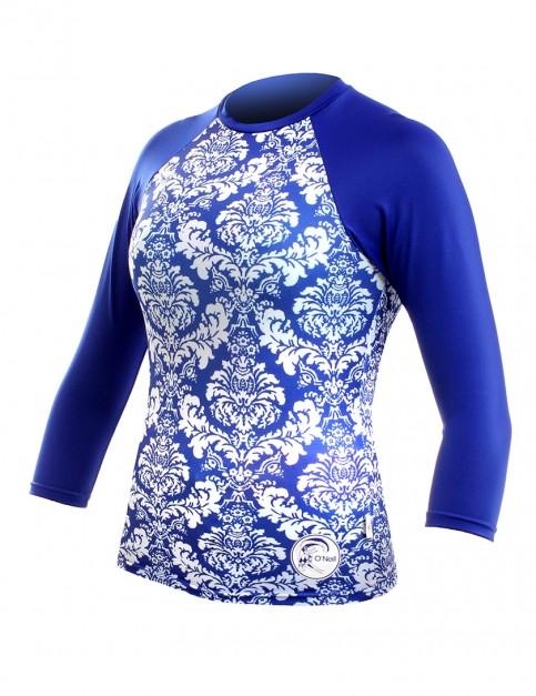 Oneill Wetsuits Ladies 3/4 Sleeve Rash tee - Tinafleur/Cobalt