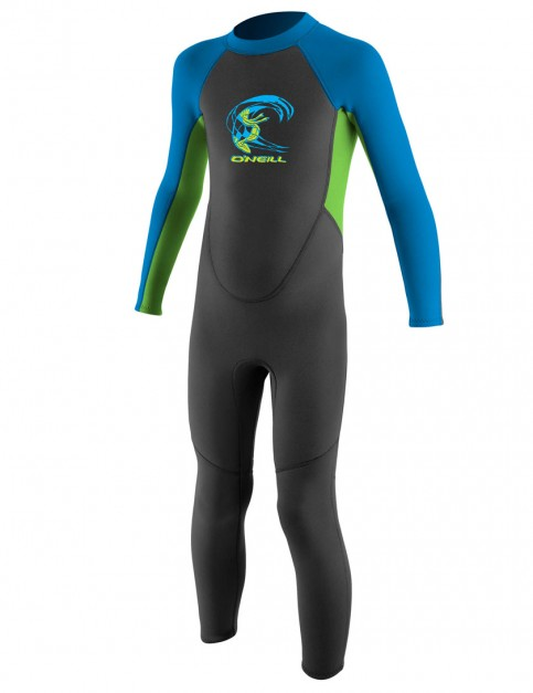 O'Neill Toddler Reactor 2mm Wetsuit 2017 - Graphite/Dayglo/Brite Blue