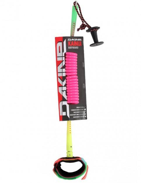 DaKine Coiled Wrist Bodyboard Leash - Neon Green