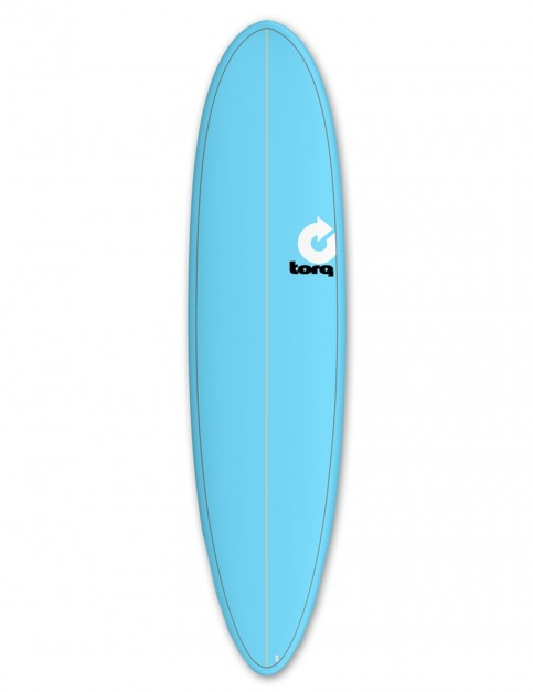 Torq Mod Fun surfboard 7ft 6 - Blue/Pinline
