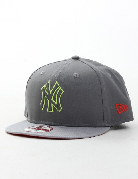 New Era Pop Outline New York Yankees 9FIFTY Snapback cap - Steel Grey/Yellow