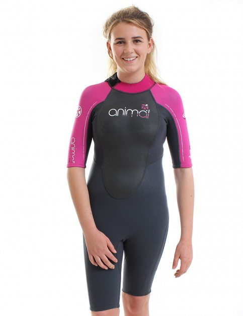 Animal Wetsuits Ladies Amp Shorty 3/2mm Summer - Graphite/Magento