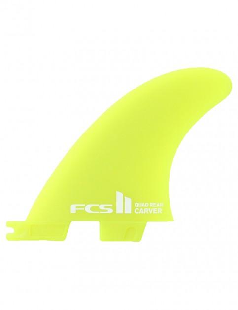 FCS II Carver Quad Rear Neo Glass Medium Two fin set - Neon Green