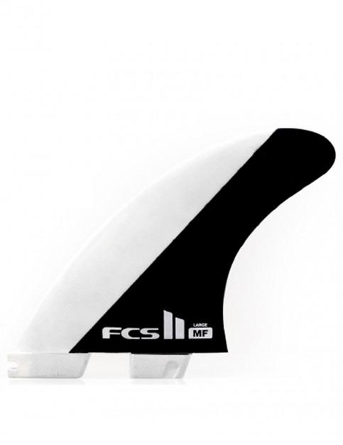 FCS II Mick Fanning MF PC Tri Fins Large - White/Black