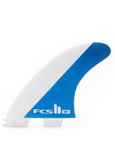 FCS II Mick Fanning MF PC Thruster Medium Tri Fin Set - White/Blue