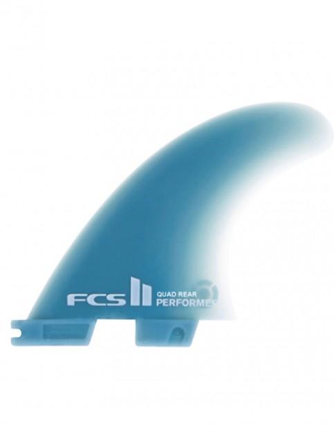 FCS II Performer Quad Rear Neo Glass Medium Two Fin set - Neon Blue