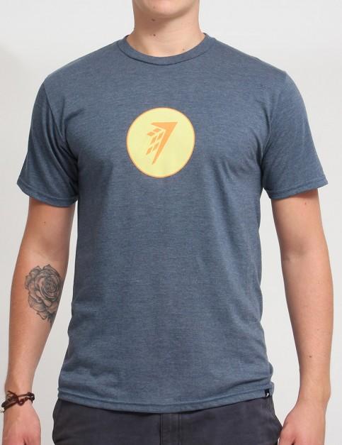 Firewire Circle Icon T shirt - Navy Heather