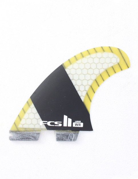FCS II WR Stretch PC Carbon Tri-Quad Large Five fin set - Yellow