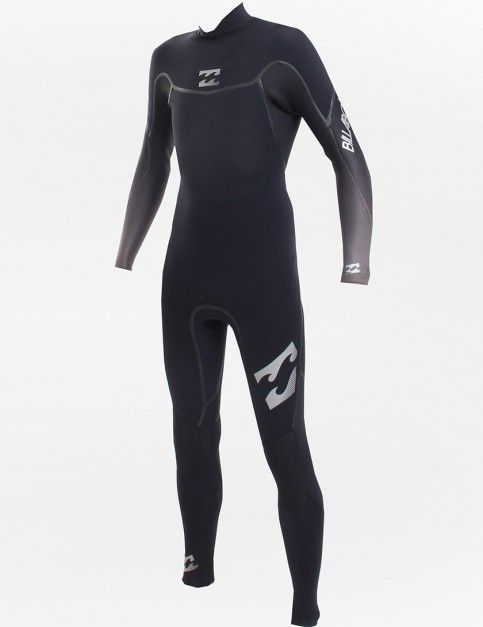 Billabong Revolution Back Zip 3/2mm Wetsuit - Black/Black/Charcoal Fade