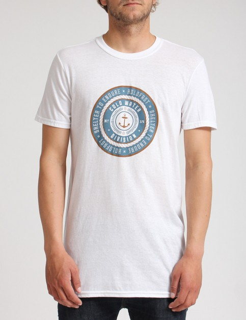 Hold Fast Badge T shirt - White
