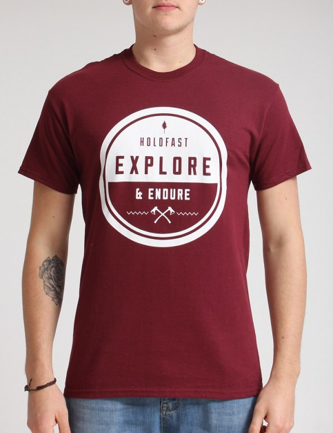 Hold Fast Endure T shirt - Merlot
