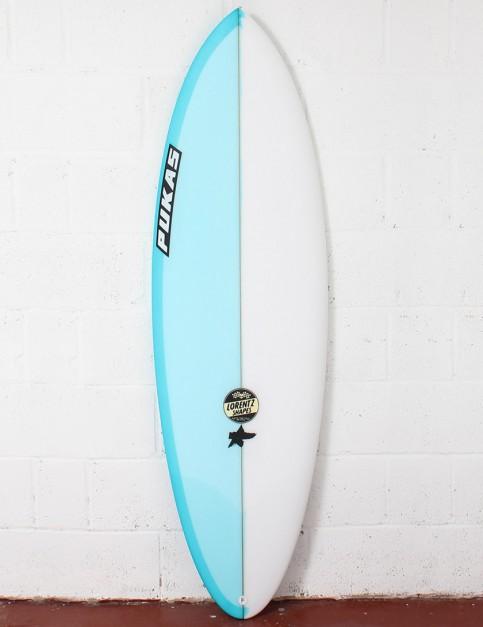 Pukas Original Sixtyniner Surfboard 6ft 4 FCS II - Sky Blue