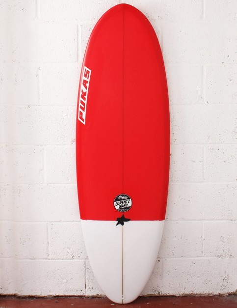 Pukas Resin Cake Surfboard 5ft 7 FCS II - Red