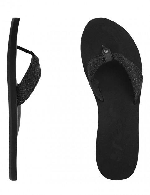 Reef Mallory Scrunch Ladies flip flops - Black Metallic