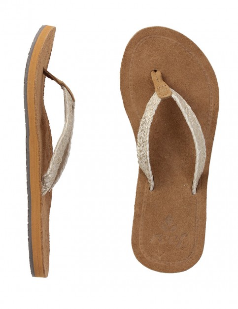 Reef Gypsy Macrame Ladies flip flops - Metallic