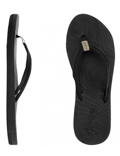 Reef Double Zen Ladies flip flops - Black/Black