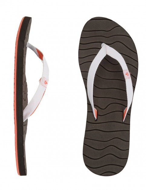 Reef Swells Ladies Flip flops - Brown/White/Coral