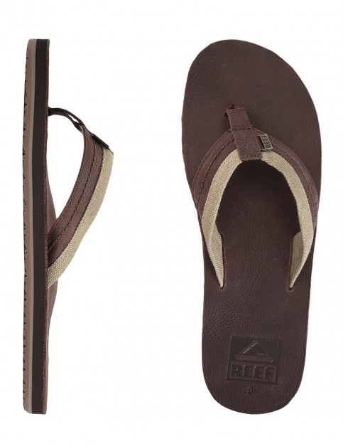 Reef Jones Leather flip flop - Brown