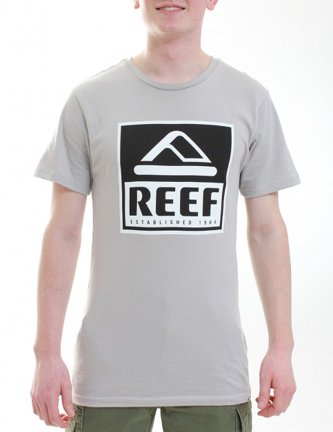 Reef Classy Block T shirt - Light Grey