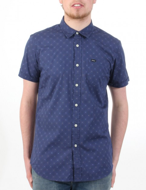 RVCA Satisfaction Short Sleeve Shirt - Midnight