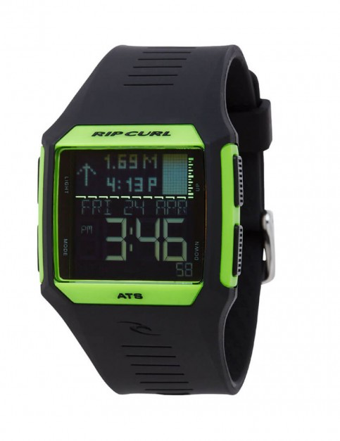 Rip Curl Rifles Tide surf watch - Fluro Green