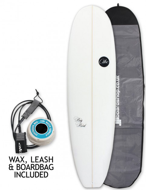 ABC Big Bird surfboard package 7ft 2 - White