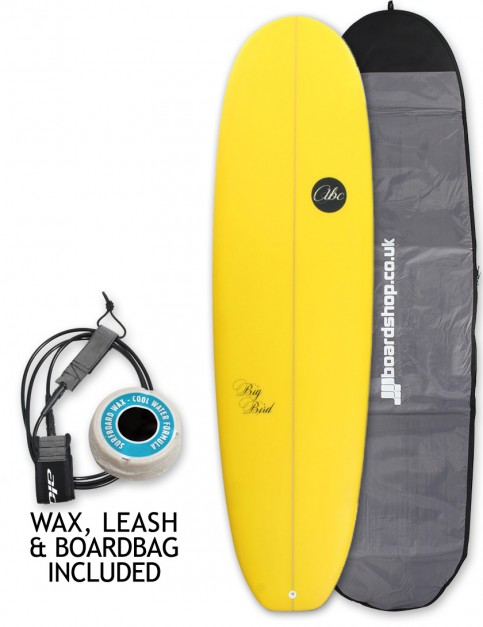ABC Big Bird surfboard package 7ft 4 - Yellow