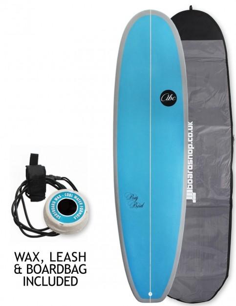 ABC Big Bird surfboard 7ft 2 Package - Blue/Grey