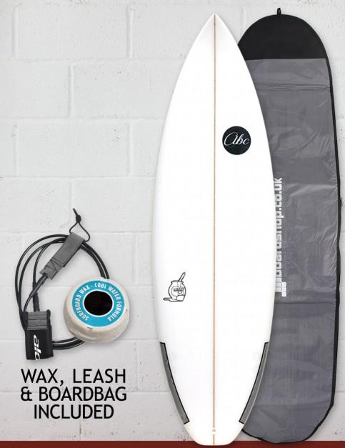 ABC Custard Mustard surfboard package 6ft - White