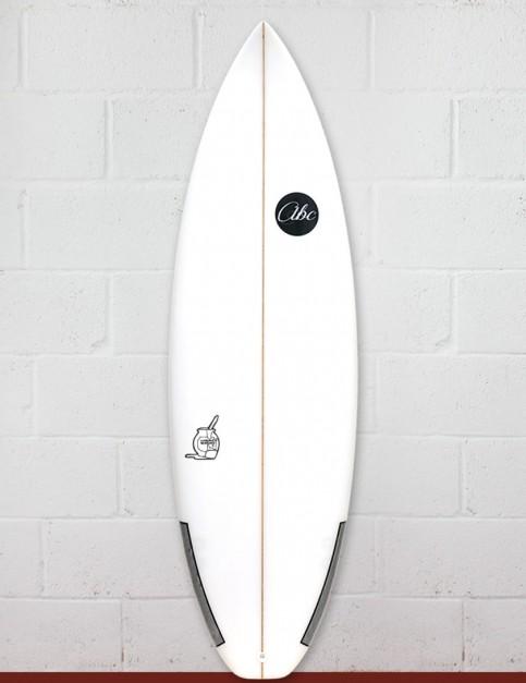 ABC Custard Mustard surfboard 5ft 10 - White